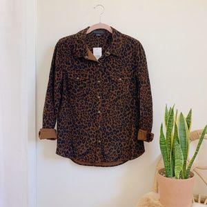 NWT! Leopard Print Button Down